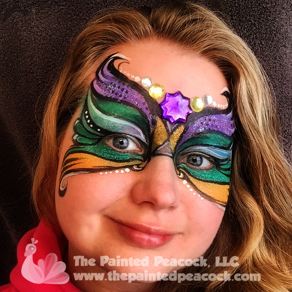 Faces places blog the painted peacock llc cleveland face painter mardi gras face painting solutioingenieria Image collections