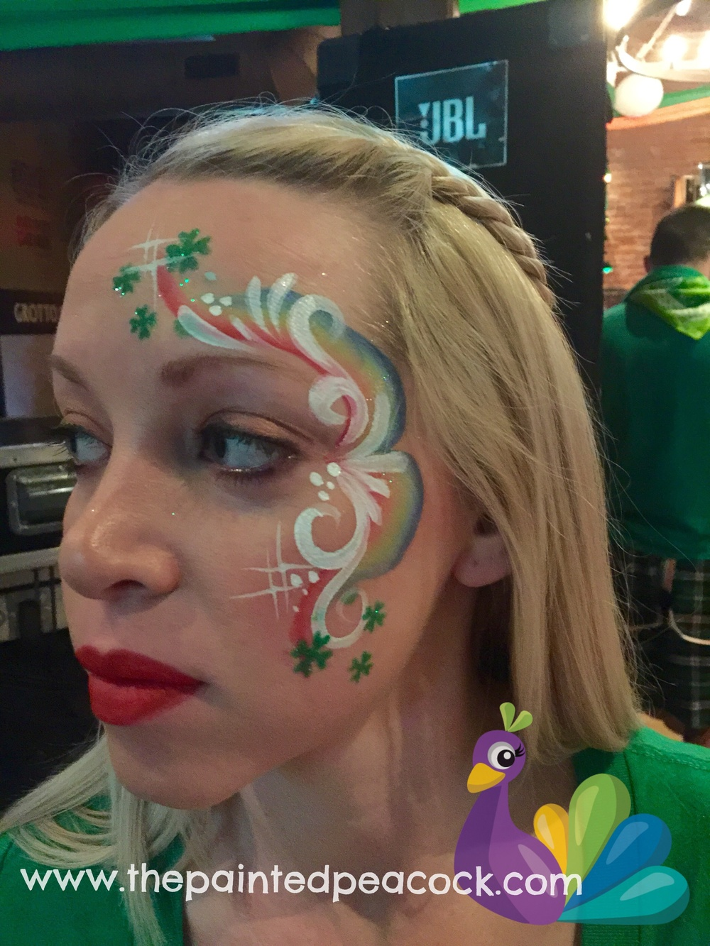 St. Patricks Day Face Painting, Barley House Cleveland