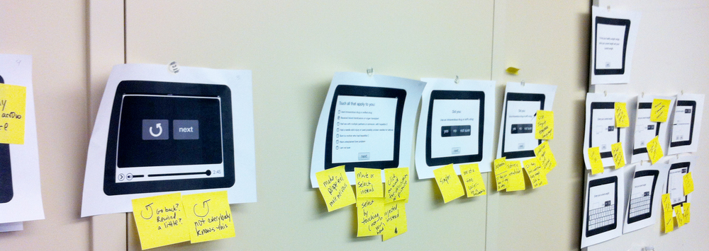 Feedback on wireframe sketches from researchers and community members