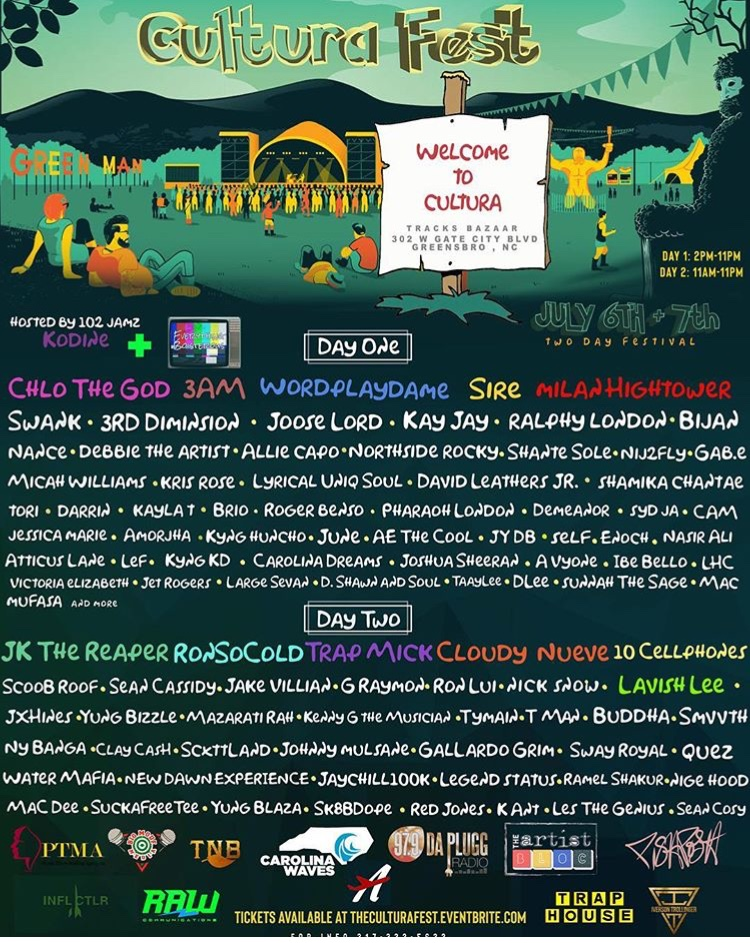 #CulturaFest full artist line-up