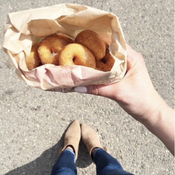 calgary stampede style donuts midway grounds boots
