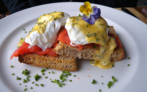 Salmon Benedict Breakfast Feature
