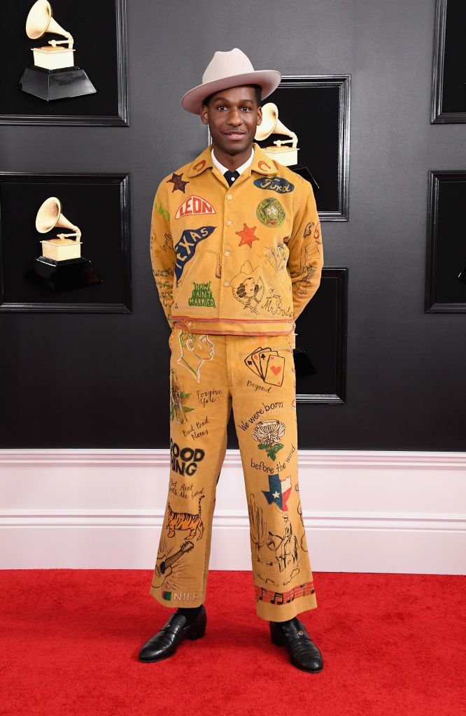 I love love LOVE his music! With this outfit thought, I can only think of the Boy Scouts of America.