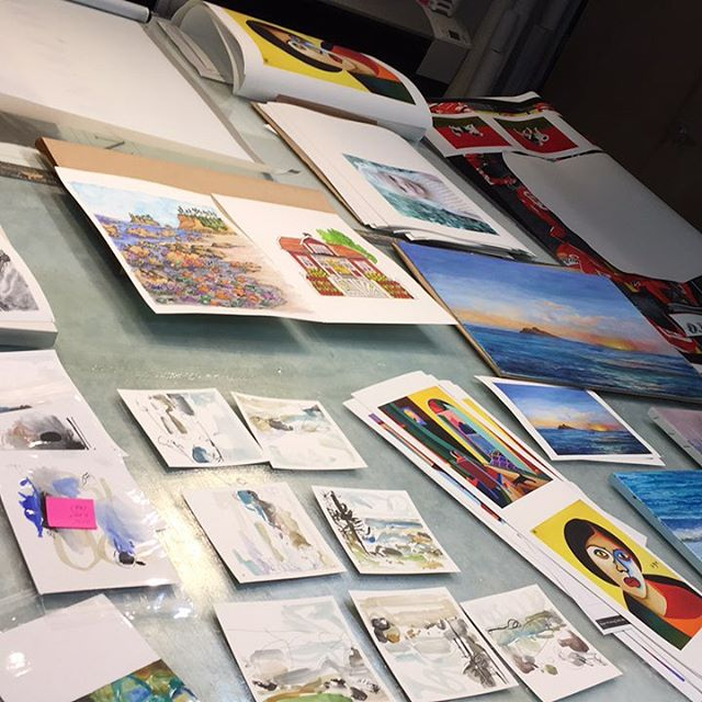 Back at it again... tables constantly full with amazing artwork from many talented artists. #pearlprinting #fineart #art #printing #prints #print #printer #local #portland #pdx #pdxart #pnw #artwork #artists #photo #photography #instaart #watercolor #illustration #artistsofinstagram #work #oregon