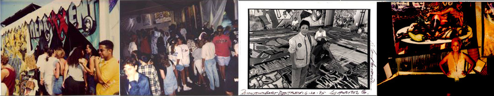 1995  Lollapalloza Tour, Produced,  The Mean Art Tent , Julie Rico, Art Director for signage and the touring gallery.