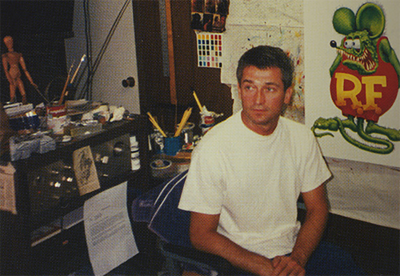 Jean Bastarache in his studio.