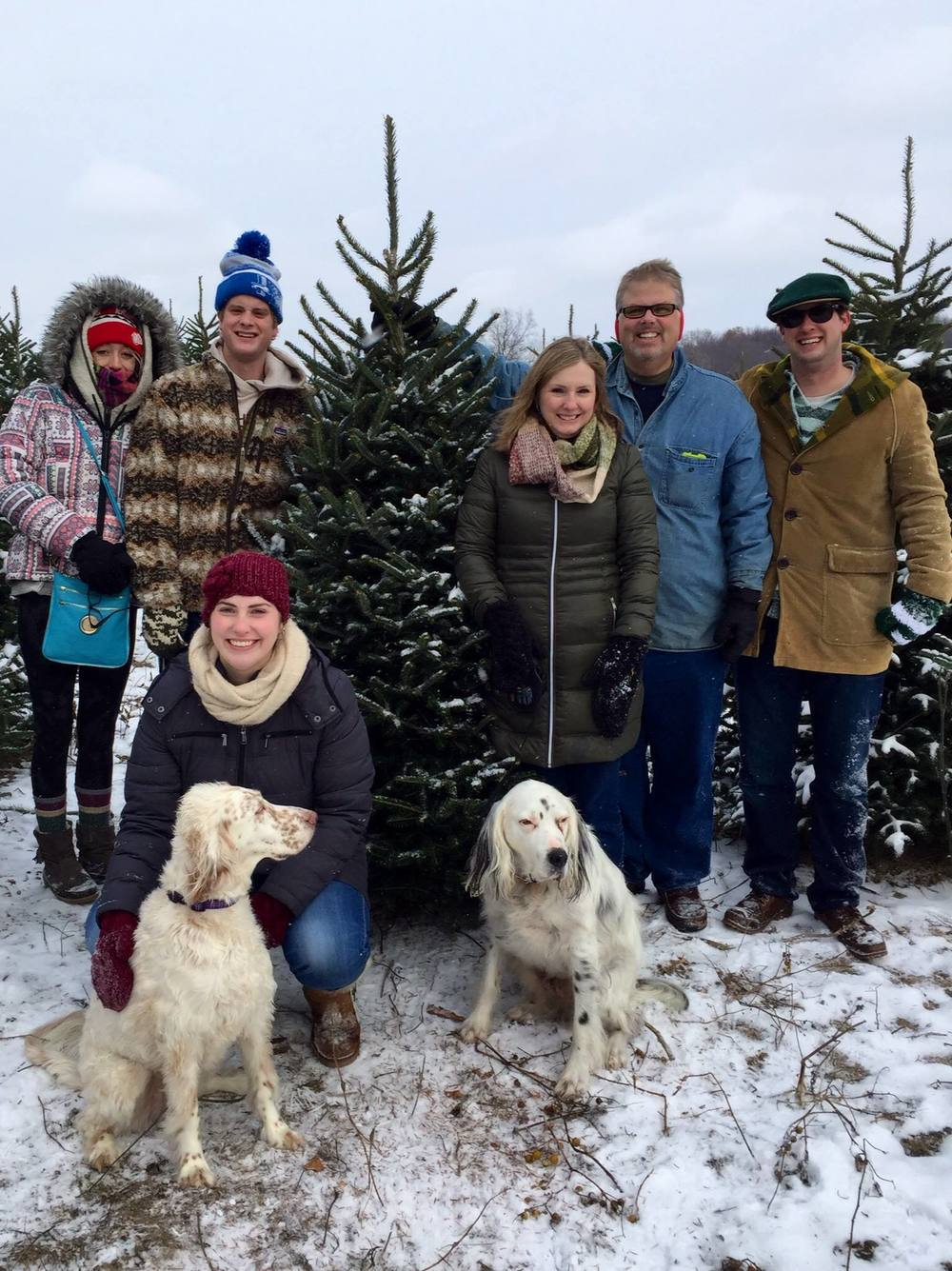 The Green family picking out their tree!