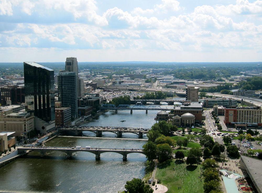 A photo of Grand Rapids, MI. Source.