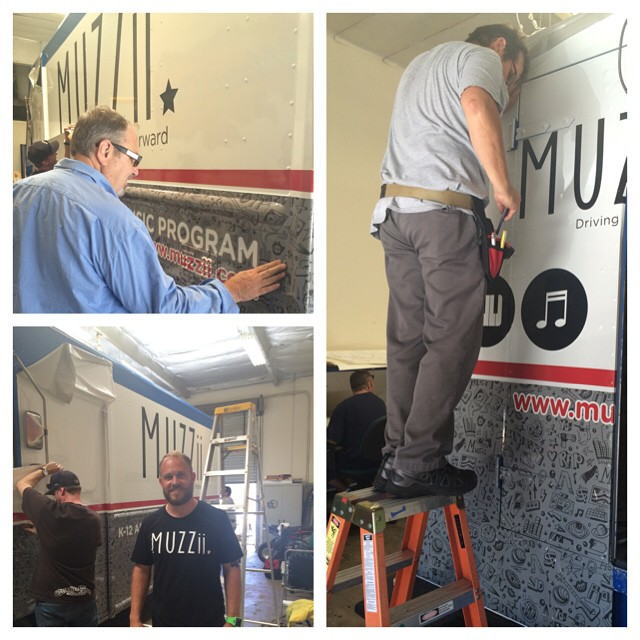 MUZZii Truck gett'n a wrap job! #drivingdreamsforward
