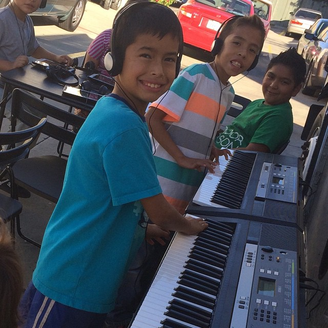 We got some talented pianist out here! #drivingdreamsforward