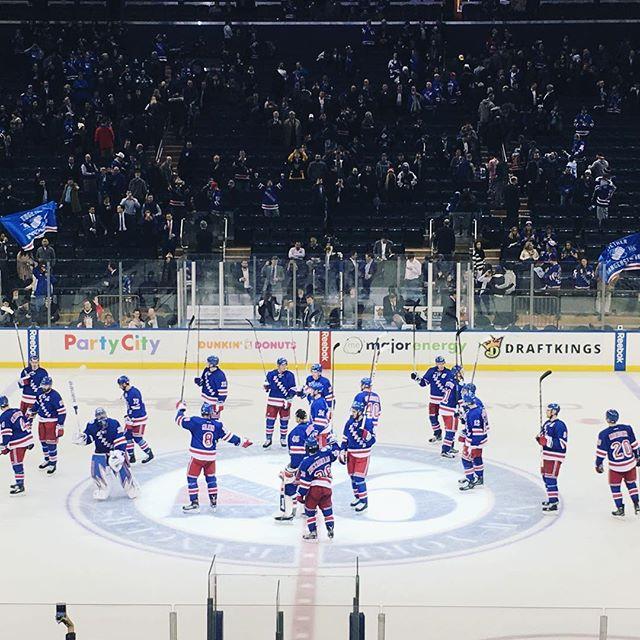 #NYR win!! I will take it.  #nyrangers #rangers #lgr #hockey  #nyc #blueshirtproud #blueshirtsunited #madisonsquaregarden #msg #nhlhockey