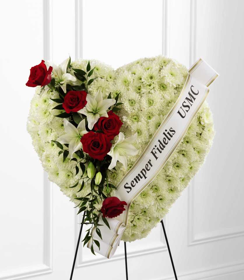 In loving memory wascana flower shoppe heart standing spray 4543 izmirmasajfo Gallery