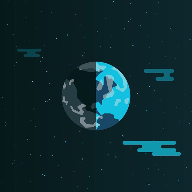 Earth. 🌎 This is a part of the previous two icon series, but I had to place it in its proper atmosphere... Because it's awesome. #earth #world #galaxy #spacetravel #illustration #thedesigntip #apjdesign #instadesign #flatdesign #creative #adobe #icons #style #thevectorproject #vectorart #branding #graphicdesign  #design #webdesign #instagood #vsco #creative  #branding #yyc #icondesign #yycliving #createexplore #dribbble