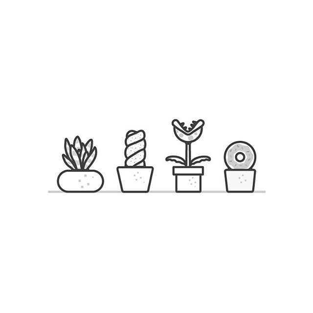 Succulents are cool, but I wish I could grow donuts... And piranha plants. 😜 🍩 #donuts #vector #icons #illustration #Mario #piranhaplant #designplay #FUN #illustration #thedesigntip #apjdesign #instadesign #thevectorproject