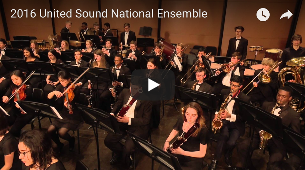 "The 2016 United Sound National Ensemble performing ""A Celebration for My Three Best Friends."""
