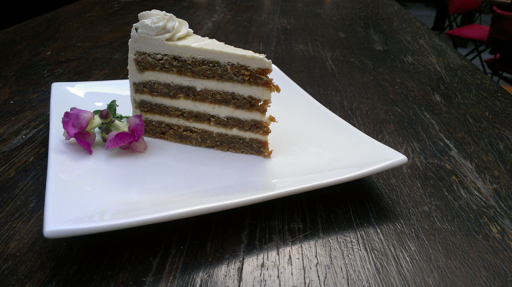 carrot cake, cream cheese frosting