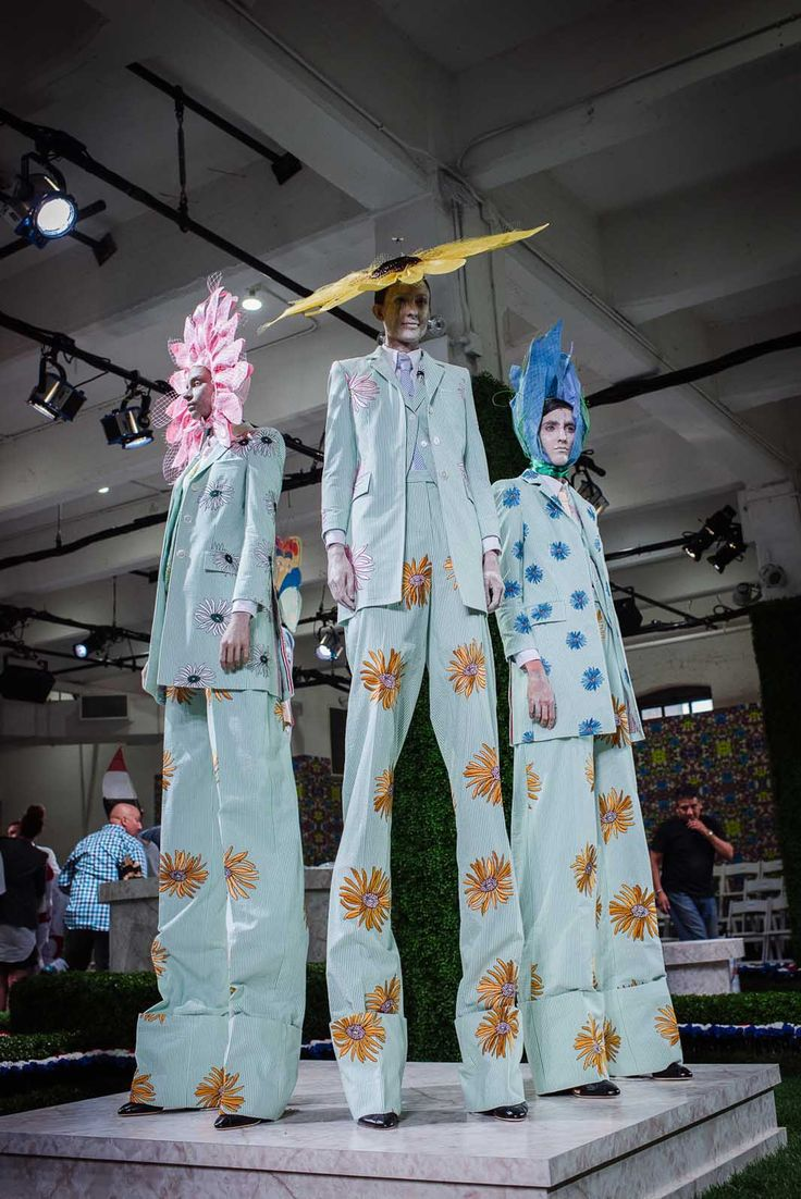 Models at Thom Browne .  Creatures of my nightmares.
