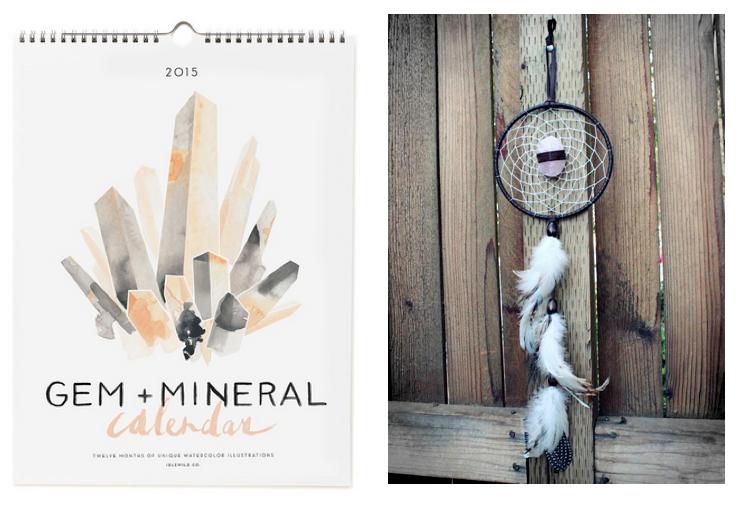 Gem+Mineral Calendar,Rose QuartzDream Catcher.