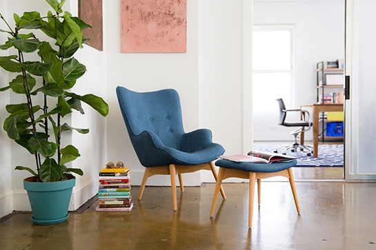 Sweet teal perfection.  That  flower pot and chair .