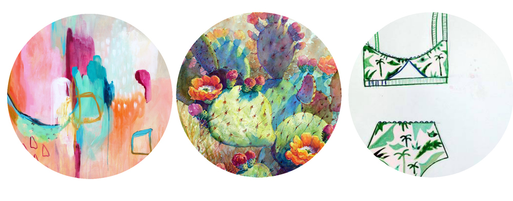 Summery art I am feeling  especially  inspired by right now!    left ,  center ,  right