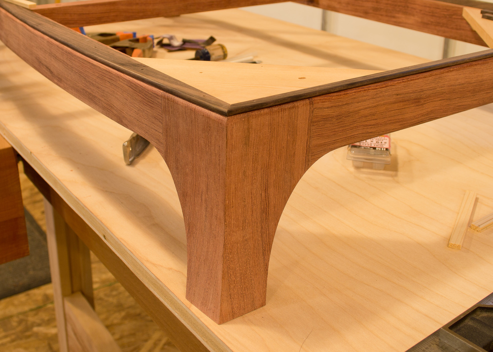 The finished base with rosewood bead.
