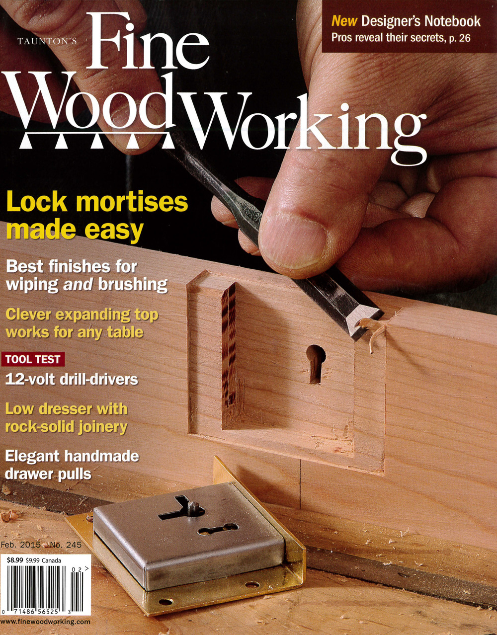 a sideboard made of black cherry, designed and handcrafted by mike korsak, is featured in fine woodworking magazine