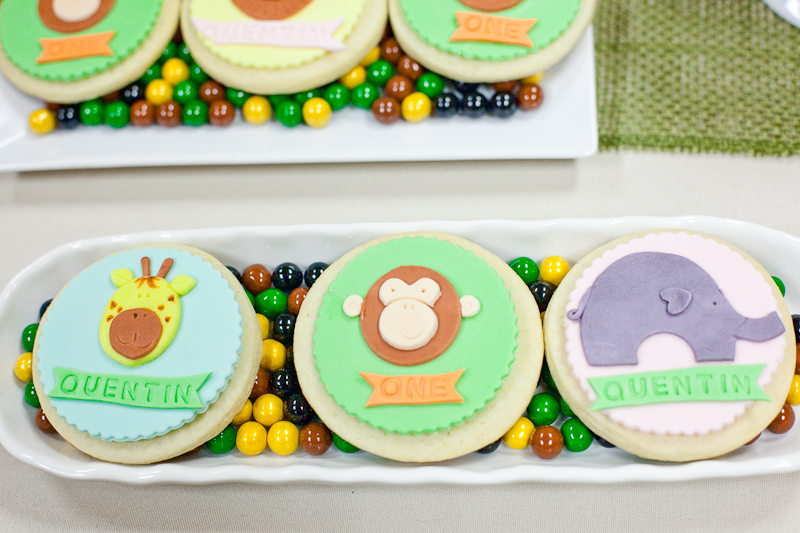 Safari Theme First Birthday Dohl Party Custom Animal Cookies 2.jpg