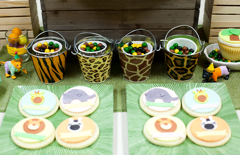 Safari Theme First Birthday Dohl Party Custom Animal Cookies.jpg
