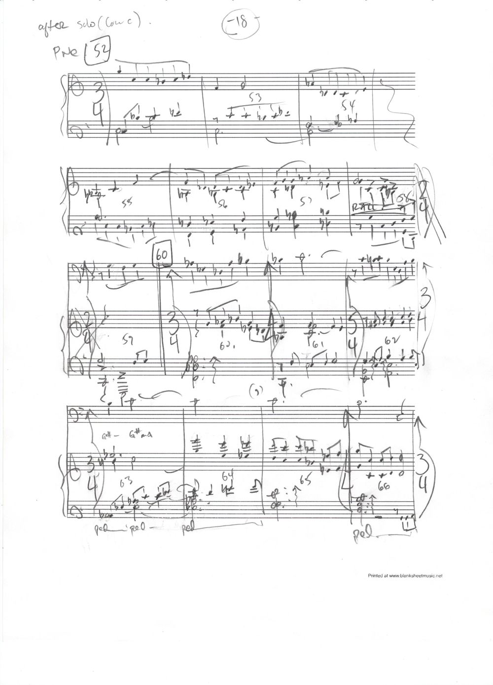 Concerto For Bass Trombone, sketch