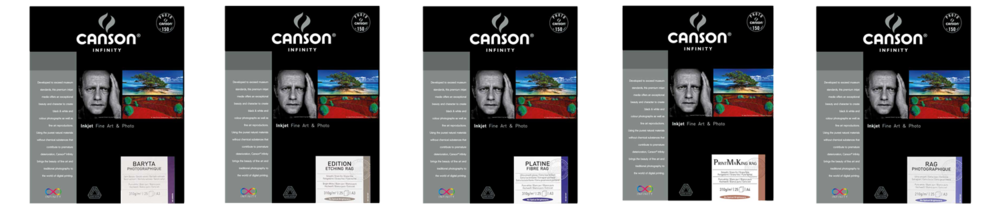 Canson Infinity Papers: Baryta Photographique, Edition Etching Rag, Platine Fibre Rag, Print Making Rag (BFK Rives), Rag Photographique