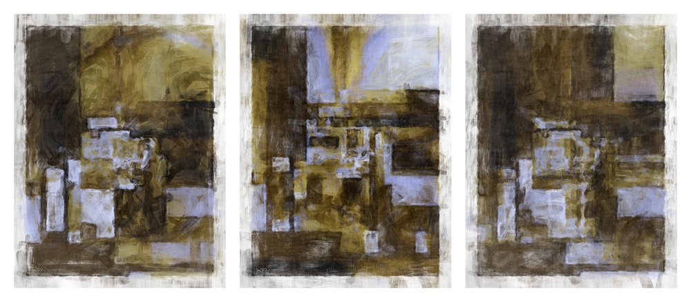 Across The Concrete Jungle Darkness Settles In  (Triptych)