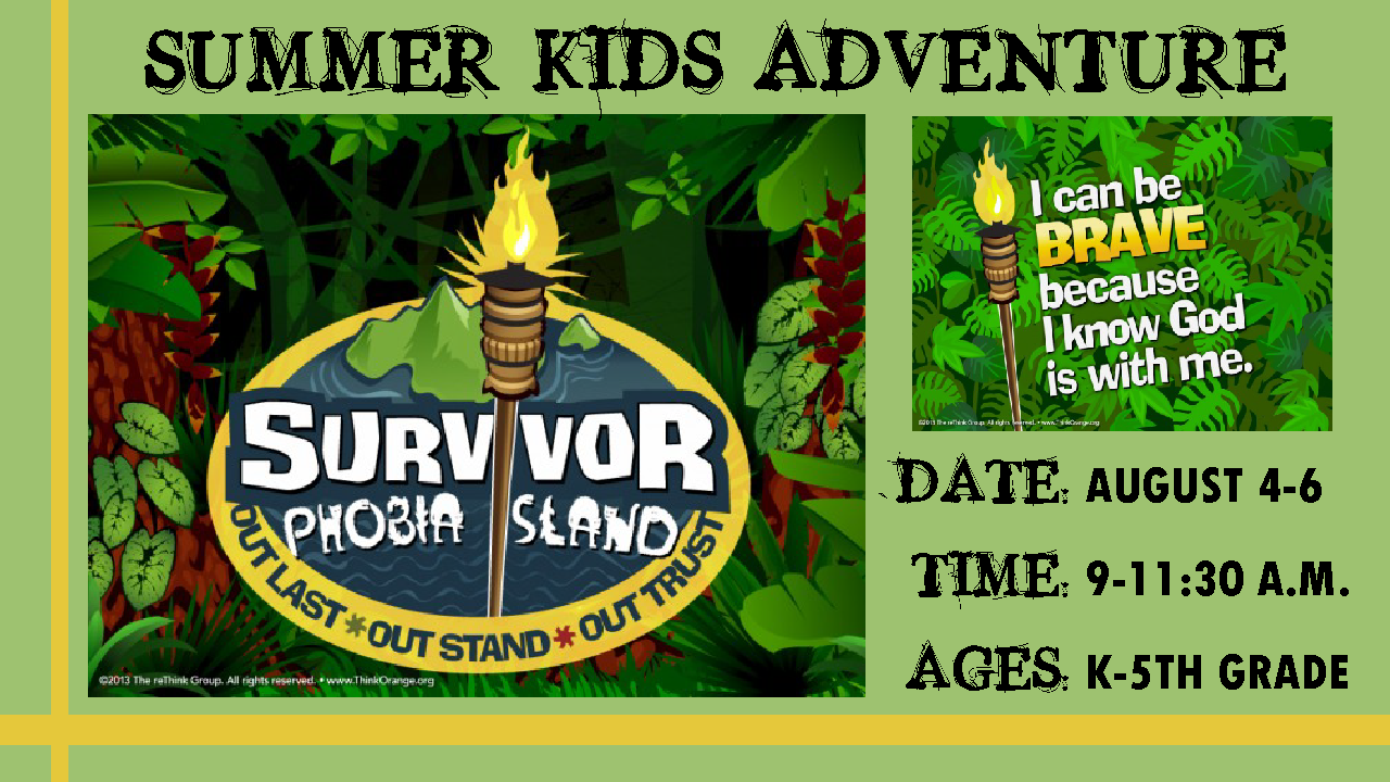 Summer Kids Adventure Survivor Phobia Island