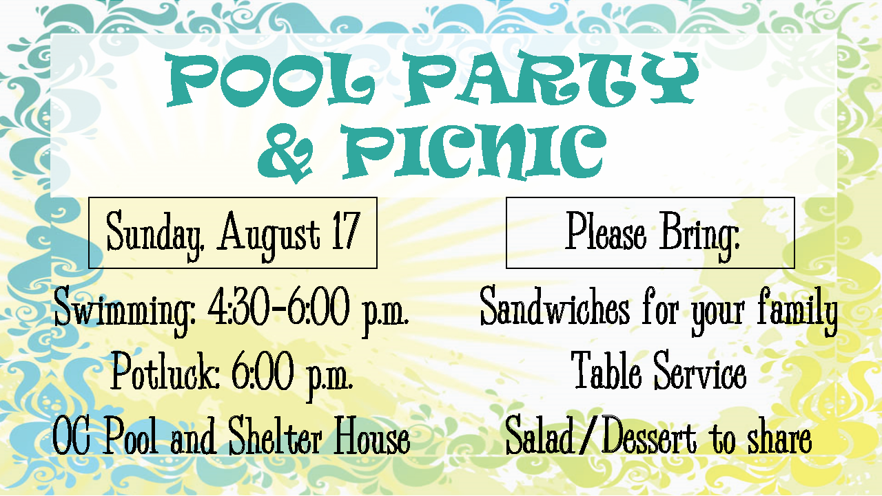 Pool Party and Picnic