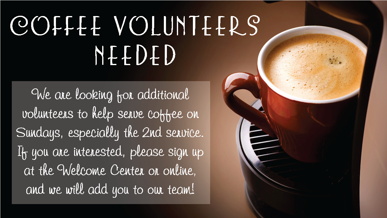 Cafe Volunteers Needed