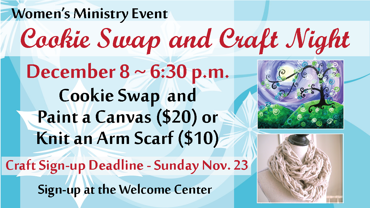 Womens Ministry Craft Cookie Night