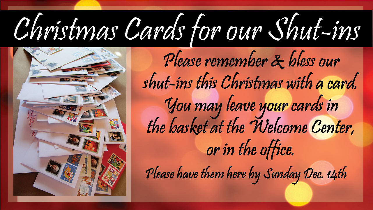 Christmas Cards Shut Ins2014