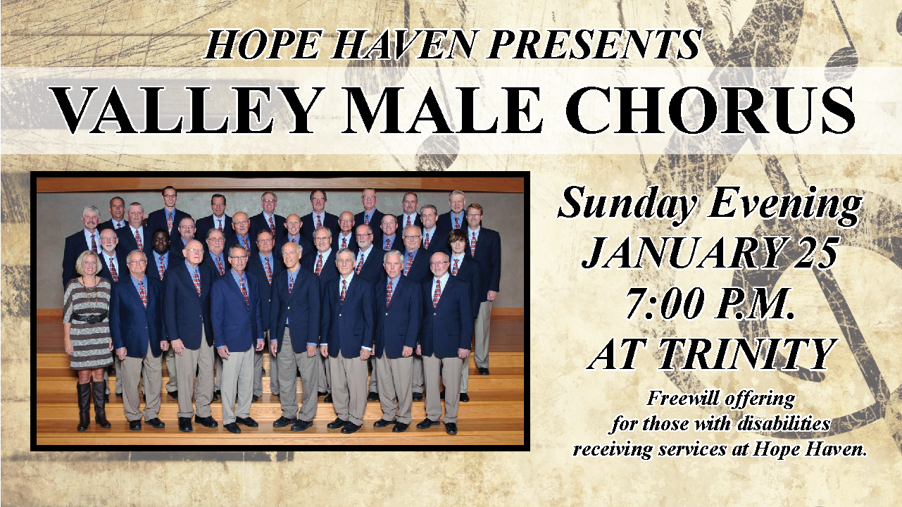 Valley Male Chorus rescheduled