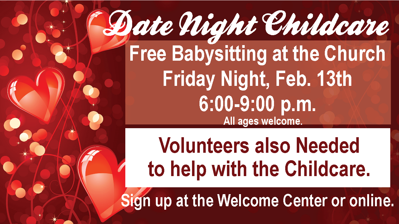 Date Night Childcare Valentines