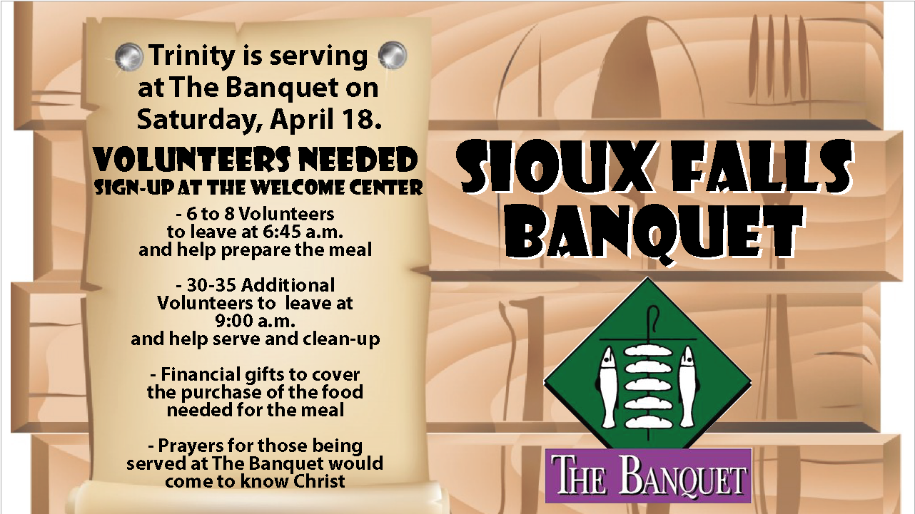 Banquet Volunteers needed