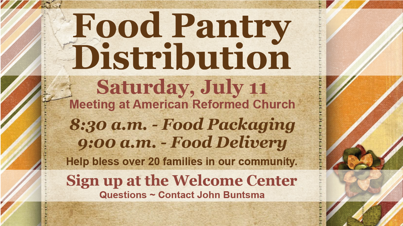 Food Pantry Distribution