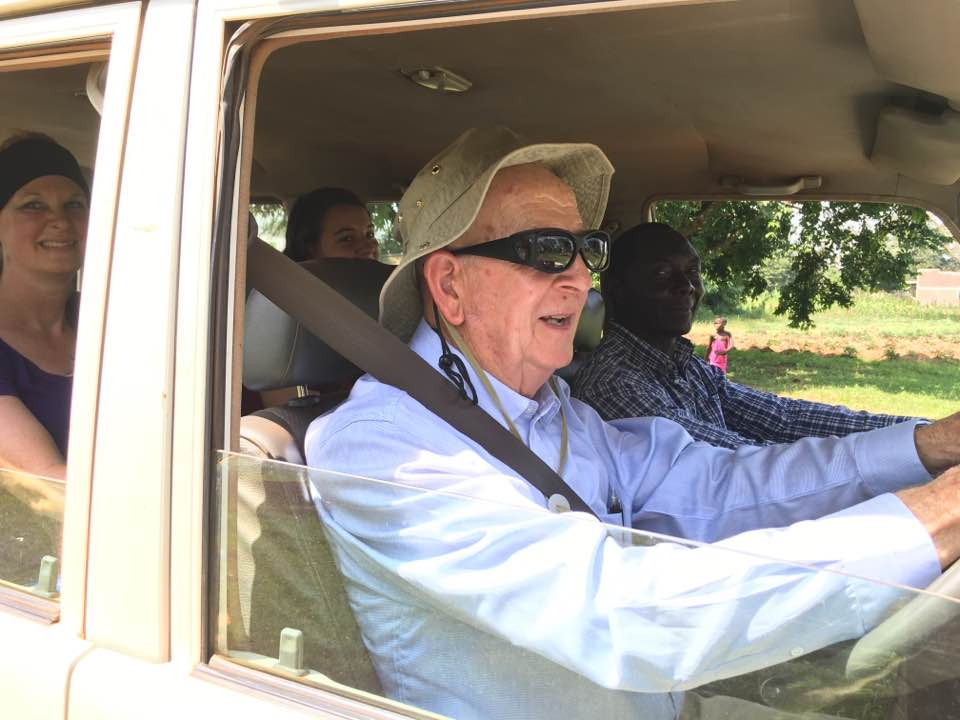 Yes! That's Papa Larry driving David's Toyota all the way from Kayunga to Namusaala!