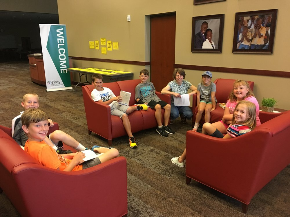 Sam Winn meets with 3rd-5th graders for a Bible study: Wednesday's in the Word.