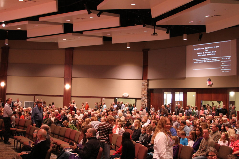 Our first Sunday in our St Paul location.