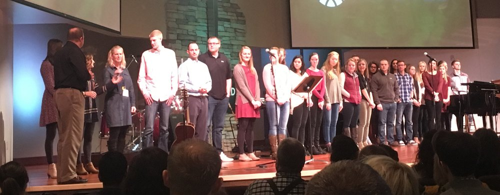 Here are a portion of the students and adults who we commissioned and sent on SSP & PLIA trips this year.