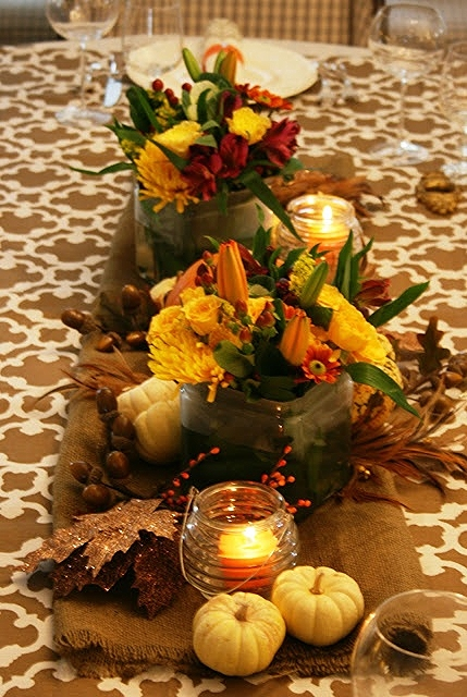 A fall centerpiece idea