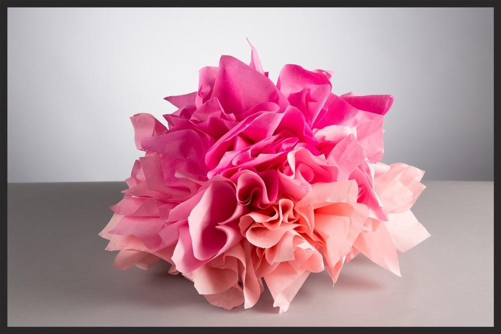 This omber design with three shades of pink is great for a quinceanera or a baby shower.