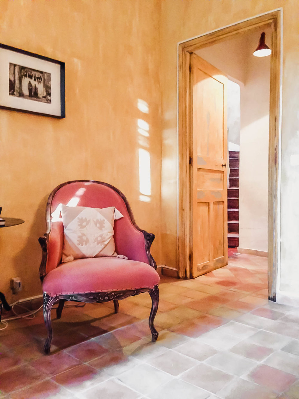 chair inside elegant house in provence, france