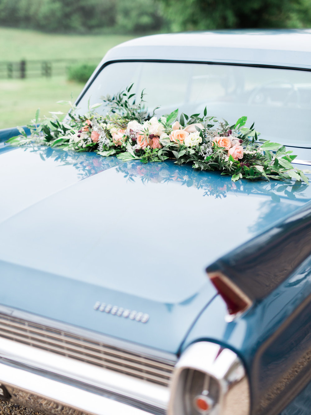 Classic Car with Flowers