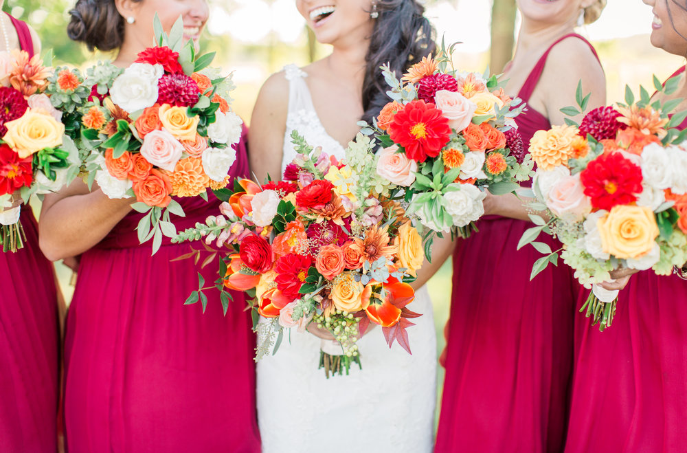 Wedding Bouquets in Fall Colors