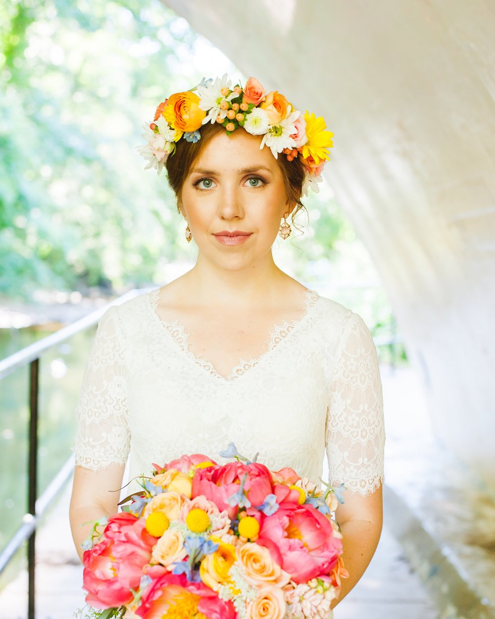 Bride with Summer Flowers